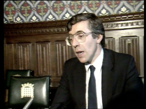 Leaked Conservative education document Jack Straw interview SOT Denies leaking Jackson proposals