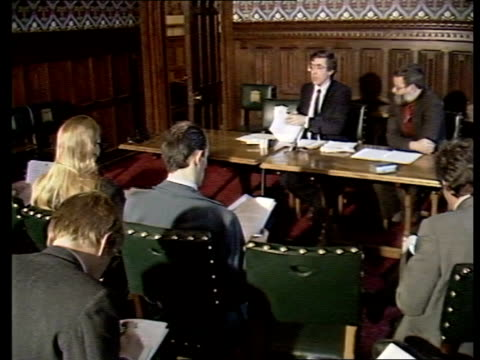 Leaked Conservative education document Westminster INT Jack Straw MP at press conference Jack Straw MP press conference SOT Enumerates Tory proposals...