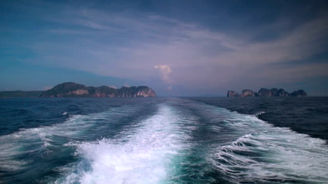 Leaving Phi Phi Islands, Thailand