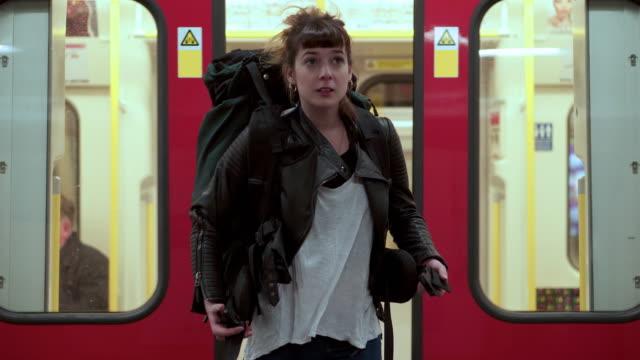 Verlassen der u-Bahn
