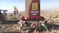 Lebanese and foreign media members attend a press tour guided by Hezbollah Hezbollah members in a mountainous area in the Lebanese border town of...