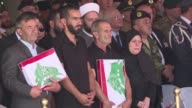 Lebanese leaders and grieving family members took part in an official ceremony Friday outside Beirut to honor 10 soldiers kidnapped and executed by...