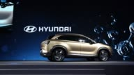 Lee Kwangguk executive vice president at Hyundai Motor Co speaks during an unveiling event for the company's fuelcell sport utility vehicle Seoul...