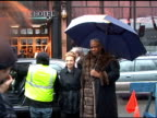 Lee Radziwill and Andre Leon Talley outside the Dennis Basso show at New York Fashion Week at the Celebrity Sightings in New York at New York NY