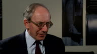 Government report lists missed opportunities Rifkind interview ENGLAND London Westminster INT Sir Malcolm Rifkind MP interview SOT Talks of his...