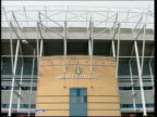 General views of Elland Road stadium ENGLAND Leeds Elland Road stadium EXT General view of Elland Road stadium with statue of Billy Bremner outside /...