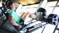 Leg press exercise.