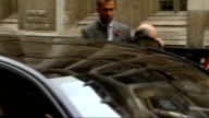 Legal battle between Boris Berezovsky and Roman Abramovich court arrivals Boris Berezovsky out of car and along into court with others