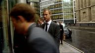 Legal battle between Boris Berezovsky and Roman Abramovich court arrivals ENGLAND London EXT Unidentified man arriving / Roman Abramovich arriving /...