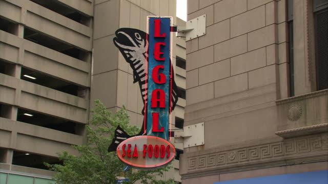 MS Legal Seafoods sign, 26 Park Plaza / Boston, Massachusetts, USA