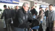 Legendary Director Claude Lelouch and rising star Liya Kebede arrive at Nice Airport