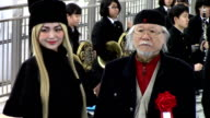 Legendary manga artist Leiji Matsumoto got to hear a familiar tune at a ceremony for the Sanyo Shinkansen bullet train held on March 9 2016 in...