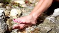 HD: Legs In Flowing Water