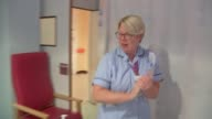 Leicester General Hospital maternity unit ENGLAND Leicestershire Leicester Leicester General Hospital INT Various of staff working in the maternity...