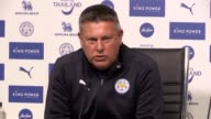 Leicester manager Craig Shakespeare holds a press conference ahead of his side's final Premier League match of the season against Bournemouth Full...