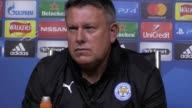 Leicester manager Craig Shakespeare reacts to his side's Champions League exit after a 11 draw in tonight's quarterfinal second leg The Foxes lost 21...