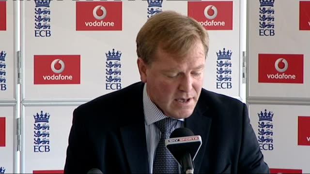 Loughborough National Cricket Performance Centre INT Hugh Morris press conference SOT
