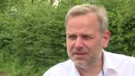 Leif Erik Holm of Germany's right wing populist AfD party cultivates a radio DJ's smooth soothing voice sports fashionable chin stubble and crisp...
