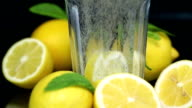 Lemon mineral water