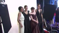 Lena Dunham Allison Williams and Zosia Mamet at the 70th Annual Golden Globe Awards Backstage in Beverly Hills CA on 1/13/13