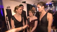 INTERVIEW Lena Dunham Allison Williams and Zosia Mamet on meeting Daniel DayLewis and on the popularity of the show with the fans at the 70th Annual...