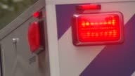 Lenox Hill Hospital Ambulance and EMS Flashing Ambulance Vehicle Lights on December 18 2013 in New York New York