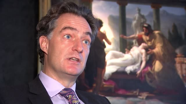 Leonardo da Vinci artwork 'Salvator Mundi' sells for record fee ENGLAND London Dr Tim Hunter interview SOT re Salvator Mundi painting