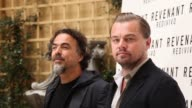 BROLL Leonardo DiCaprio Alejandro Gonzalez Inarritu at 'The Revenant' Photocall In Rome in Rome Italy