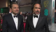 INTERVIEW Leonardo DiCaprio Alejandro Gonzalez Inarritu on being cold crawling in the ice adapting to the weather conditions on set location filming...