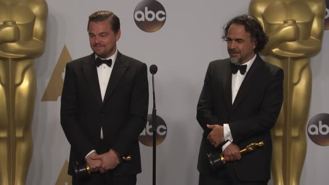 SPEECH Leonardo DiCaprio and Alejandro G Inarritu at 88th Annual Academy Awards at Hollywood Highland Center on February 28 2016 in Hollywood...