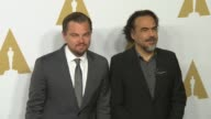 Leonardo DiCaprio and Alejandro Gonzalez Inarritu at the 88th Annual Oscars® Nominees Luncheon at The Beverly Hilton Hotel on February 08 2016 in...