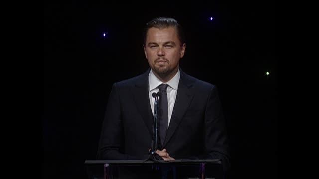 SPEECH Leonardo DiCaprio at 64th Annual ACE Eddie Awards in Los Angeles CA