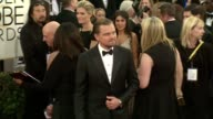 Leonardo DiCaprio at 71st Annual Golden Globe Awards Arrivals at The Beverly Hilton Hotel on in Beverly Hills California