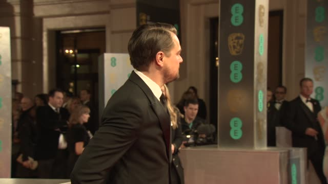 Leonardo Dicaprio at EE British Academy Film Awards at The Royal Opera House on February 16 2014 in London United Kingdom