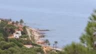 Les Rotes Beach in Denia time lapse