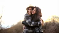Lesbian hug