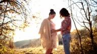 Lesbian pregnant couple