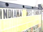 Lettering sign Indiana Best Tenderloin on side of street Restaurant food breakfast lunch dinner meal hungry eat diner