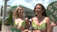 INTERVIEW Lettuce Ladies on environmental impact of driving and eating meat at the Peta at the Pump Lettuce Ladies Promote Vegan Eating at New York...