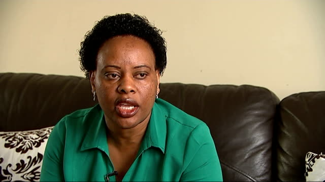 Leukaemia sufferer Kevin Karawa Veronica Kararwa set up shot with reporter / interview SOT CUTAWAY reporter