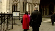 Brian Paddick and John Prescott arrivals ENGLAND London Royal Courts of Justice EXT Brian Paddick brief photocall outside High Court and along into...