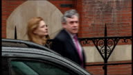 Leveson Inquiry into media ethics and phone hacking Gordon Brown arrives ENGLAND London EXT Former Prime Minister Gordon Brown MP from car on...