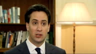 Ed Miliband interview ENGLAND London INT Ed Miliband MP interview SOT re how likely will be able to find compromise hope there will be cross party...