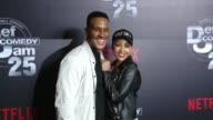 Levon Franklin and Meagan Good at Netflix Presents 'Def Comedy Jam' 25 Anniversary Special Arrivals at The Beverly Hilton Hotel on September 10 2017...
