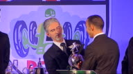 Lewis Hamilton wins award ** buzzing on sound during awards ** Lewis Hamilton onto stage to receive award and speech SOT One of toughest races of my...