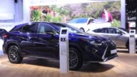A Lexus GS 450h hybrid automobile produced by Toyota Motor Corp sits on display at the IAA Frankfurt Motor Show in Frankfurt Germany on Tuesday Sept...