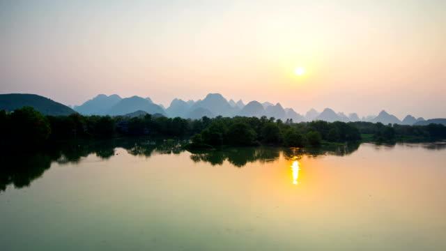 Li River at Dawn,Guilin,China
