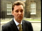 Liam Fox allegations dismissed Downing Street EXT Alan Milburn MP interview SOT Fox has been caught out/ their strategy is to undermine the health...