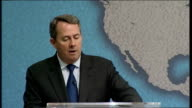 Liam Fox speech at Chatham House Dr Liam Fox speech continued SOT Ladies and Gentlemen the SDSR will be watched closely by our adversaries and allies...