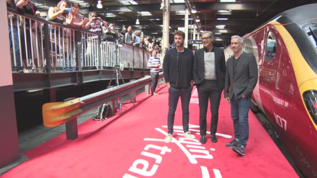 Liam Hemsworth Jeff Goldblum Roland Emmerich at 'Independence Day Resurgence' Photocall on June 06 2016 in London England